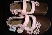 Продам дет.обувь.чешки,  раз 12 см., корич.розовые. фирма Robeez
