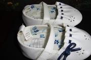 продам дет. обувь,  размер до 11 см. по длине ножки,  белые,  с гол.отд.