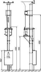 Подстанции МТПЖ, КТПЖ 25-630 кВа железнодорожные столбовые,  мачтовые