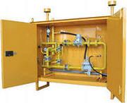 Шкаф ГРПШ, фильтр, клапан, счётчик, сигнализатор газа